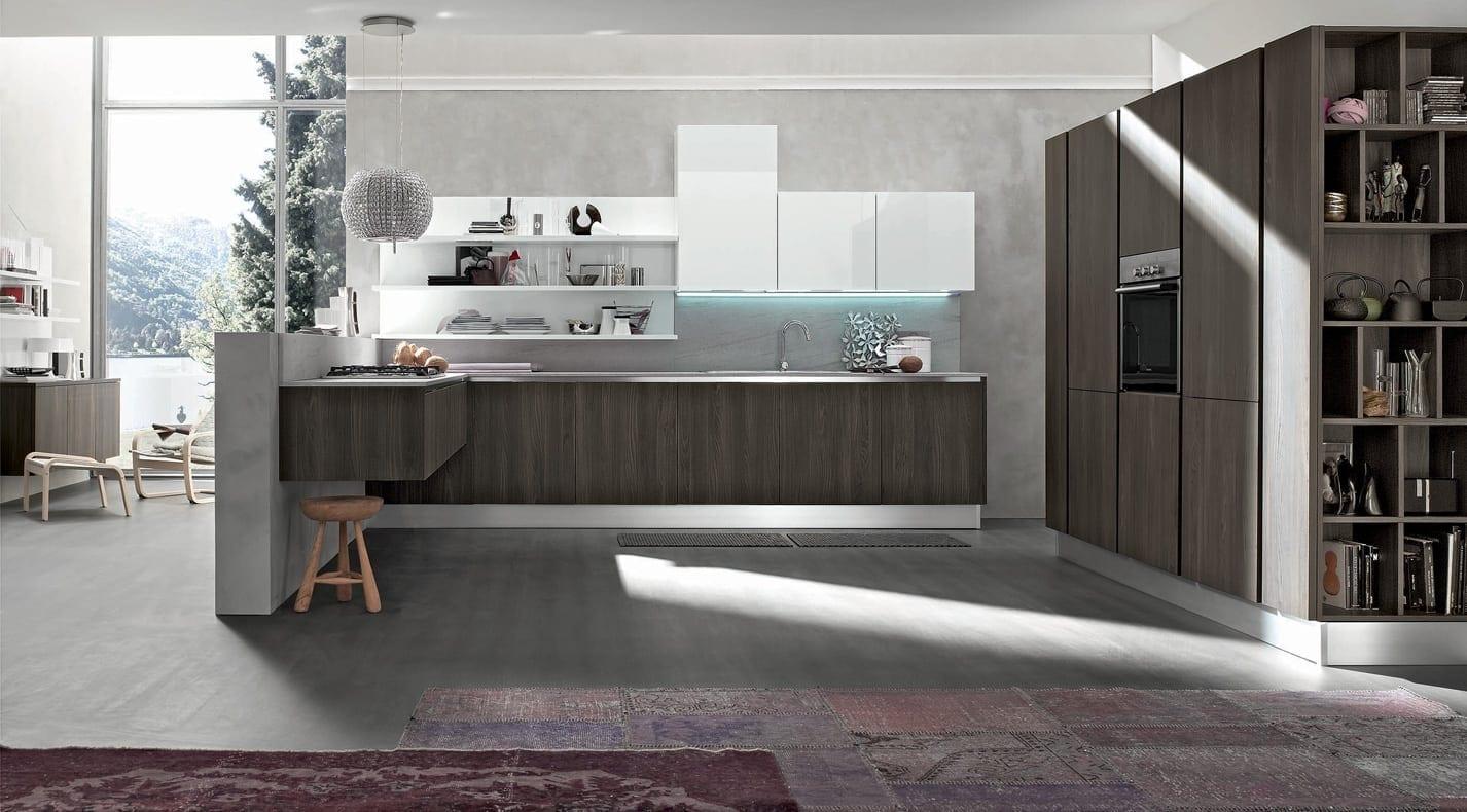 Cucina Moderna Wood   PG Arredamenti Lucca