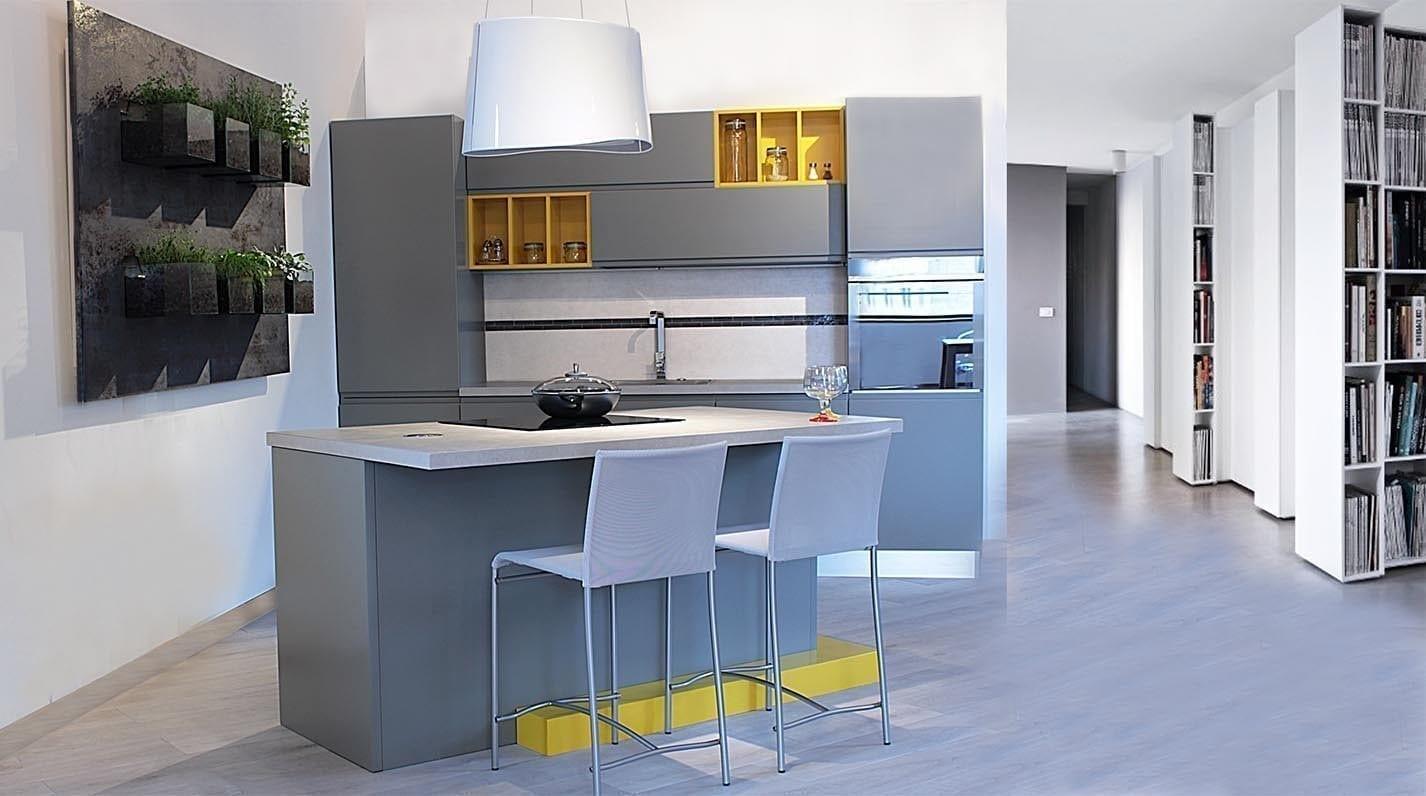Cucina moderna jay pg arredamenti lucca - Cucine moderne gialle ...