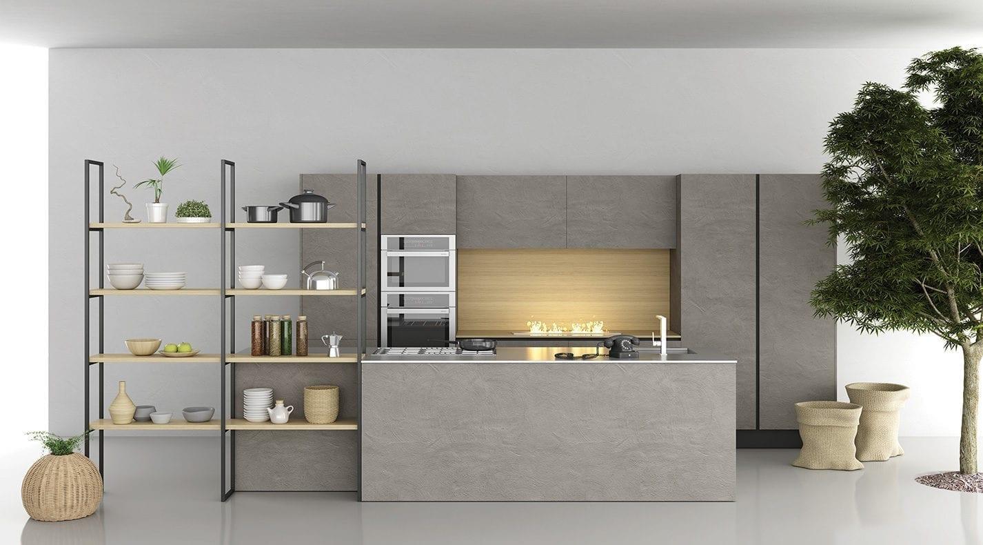 Cucina moderna brick lucca pg arredamenti for P g arredamenti