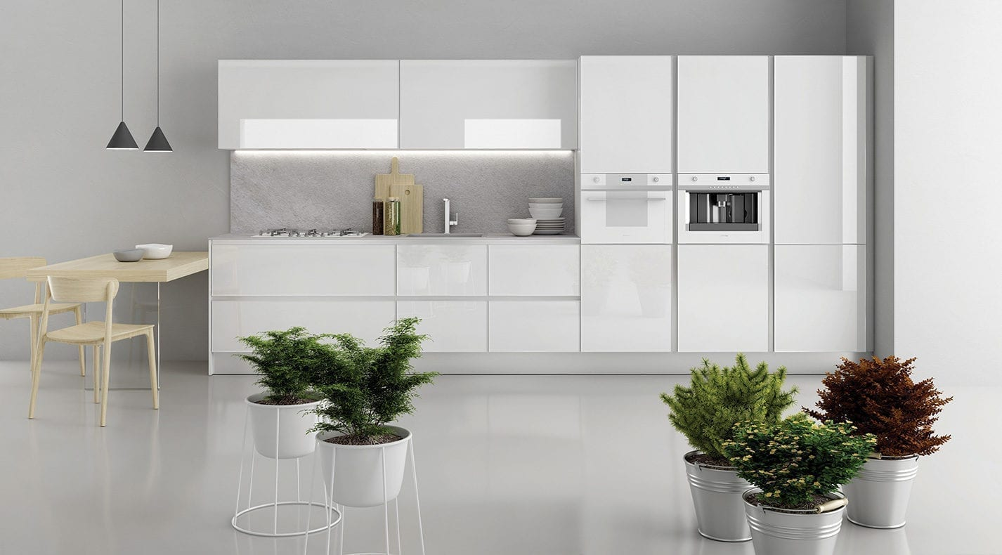 Modern kitchen glass pg furniture kitchens in lucca tuscany italy