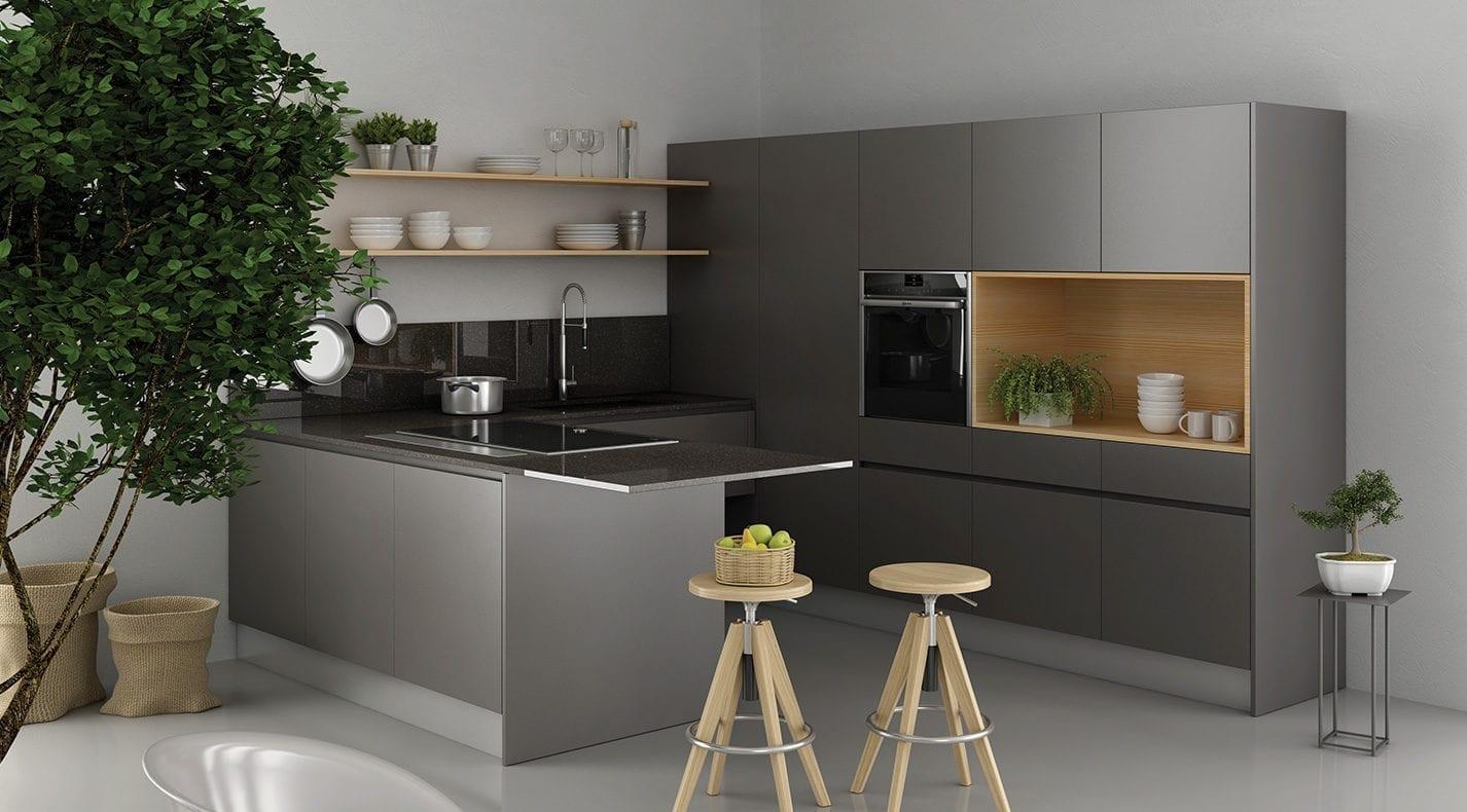 Cucina moderna one opaca pg arredamenti lucca for P g arredamenti