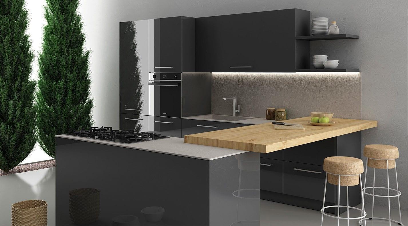 cucina moderna one lucida pg arredamenti lucca